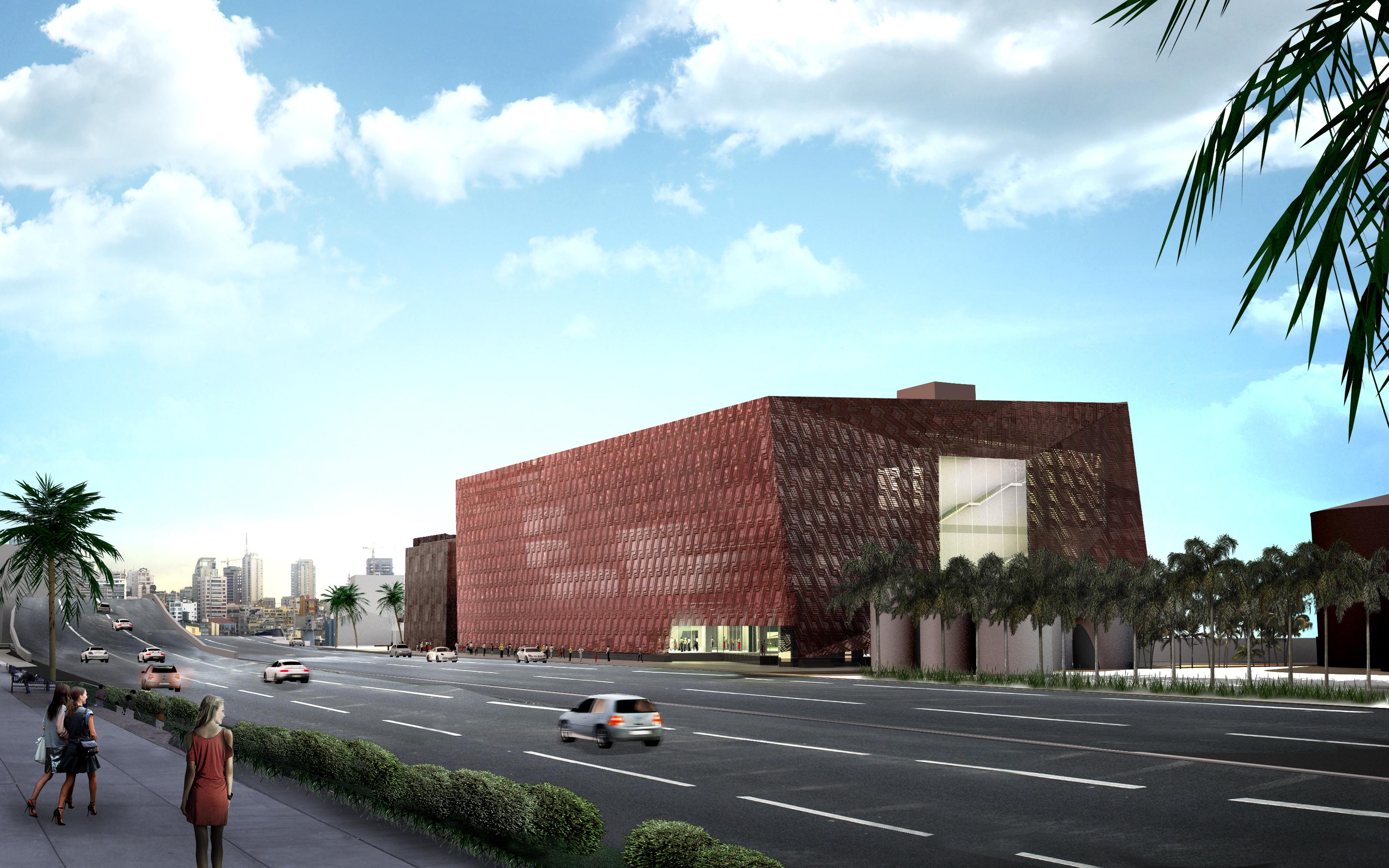 Aishti Foundation rendering - Building