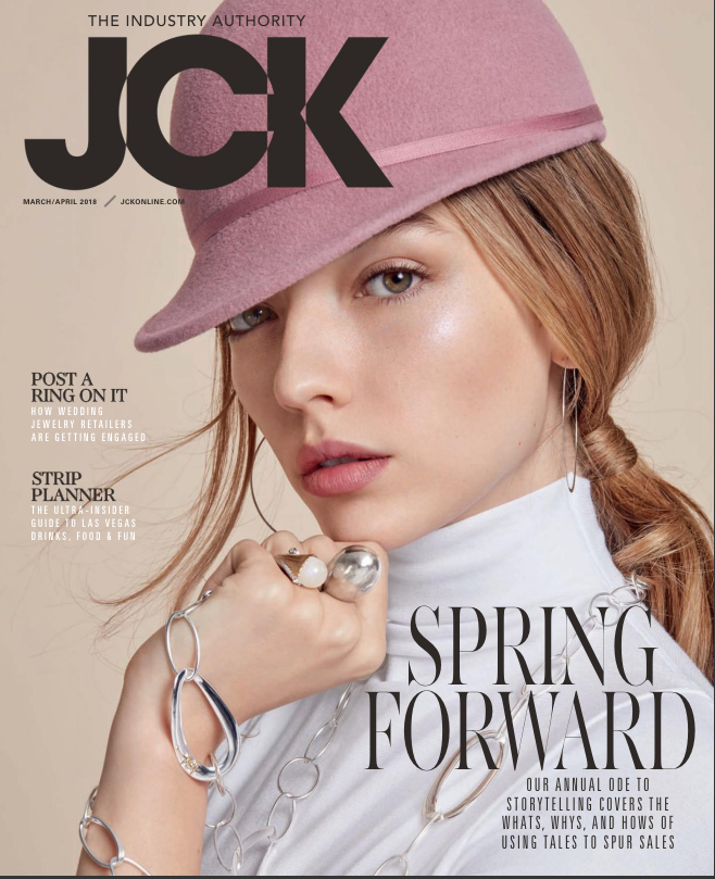 JCK March April sterling silver cover
