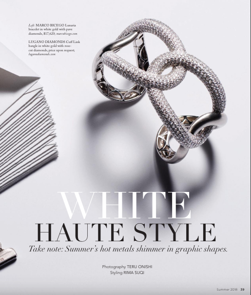 Luxury Magazine White Metal Jewelry Feature