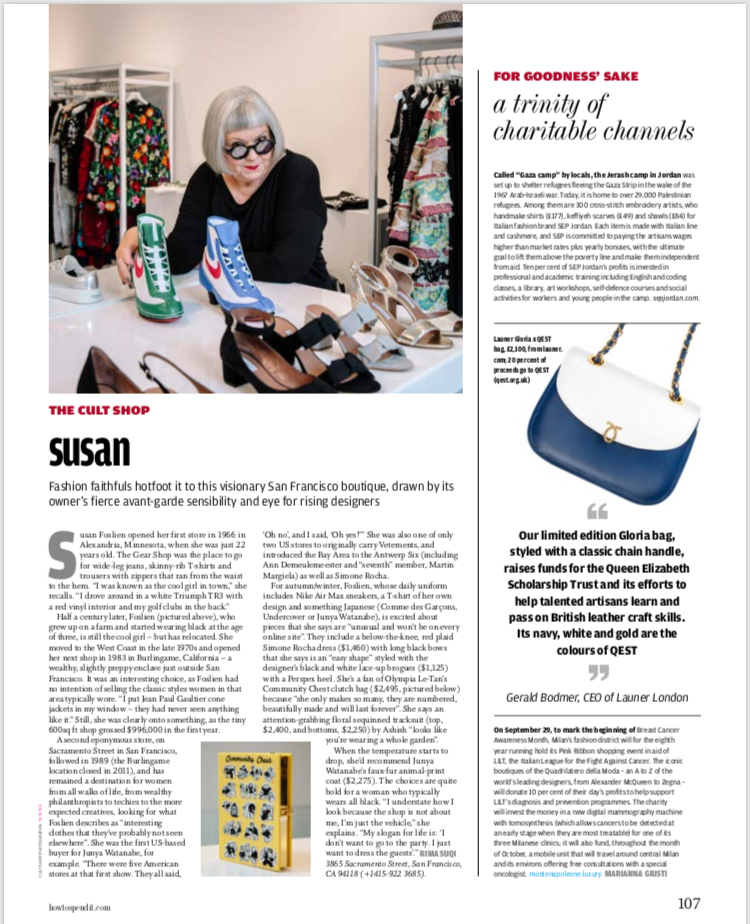 Susan Foslien of San Francisco luxury shop
