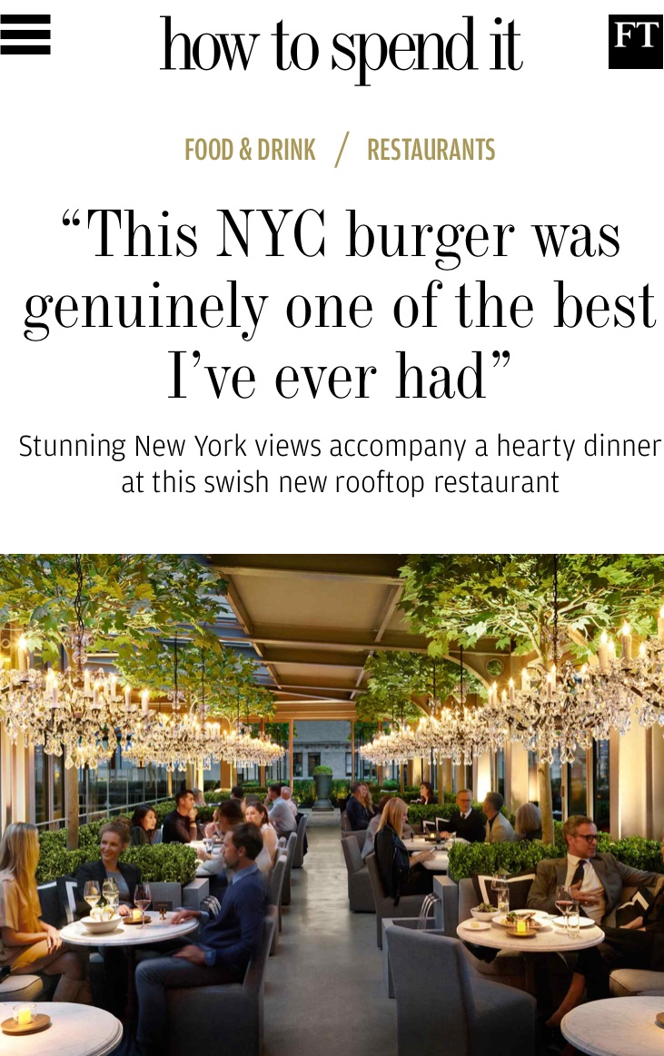 Restoration Hardware S Rooftop Restaurant In How To Spend It