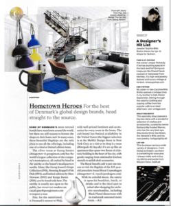 Rima Suqi article about Copenhagen stores in Departures Magazine