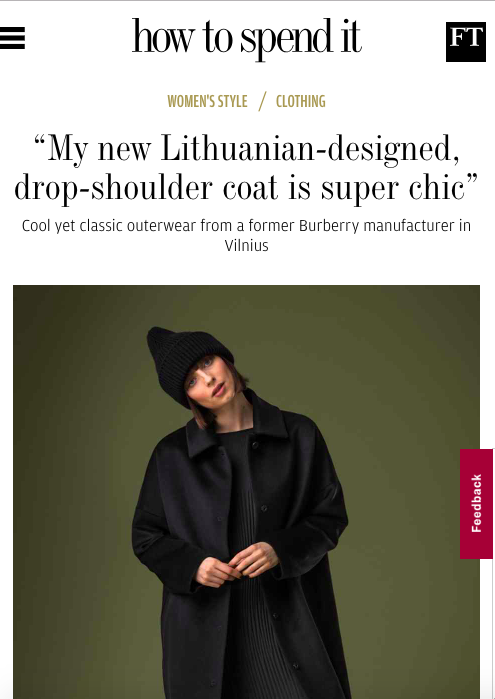 InAvati coat Lithuania