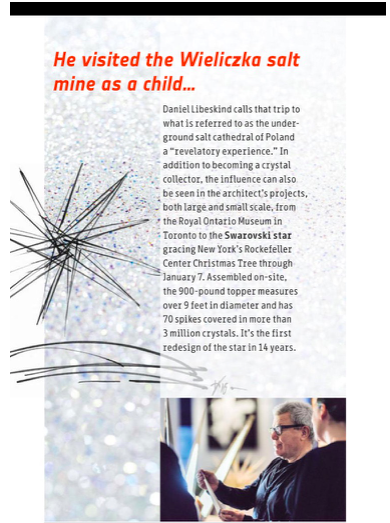 Daniel Libeskind Swarovski Star for Rockefeller Center NYC Christmas Tree
