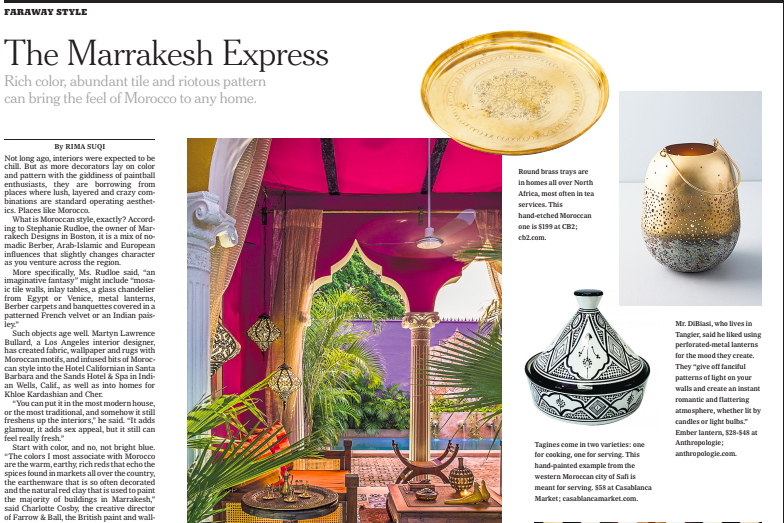 New York Times design section, Rima Suqi Morocco story