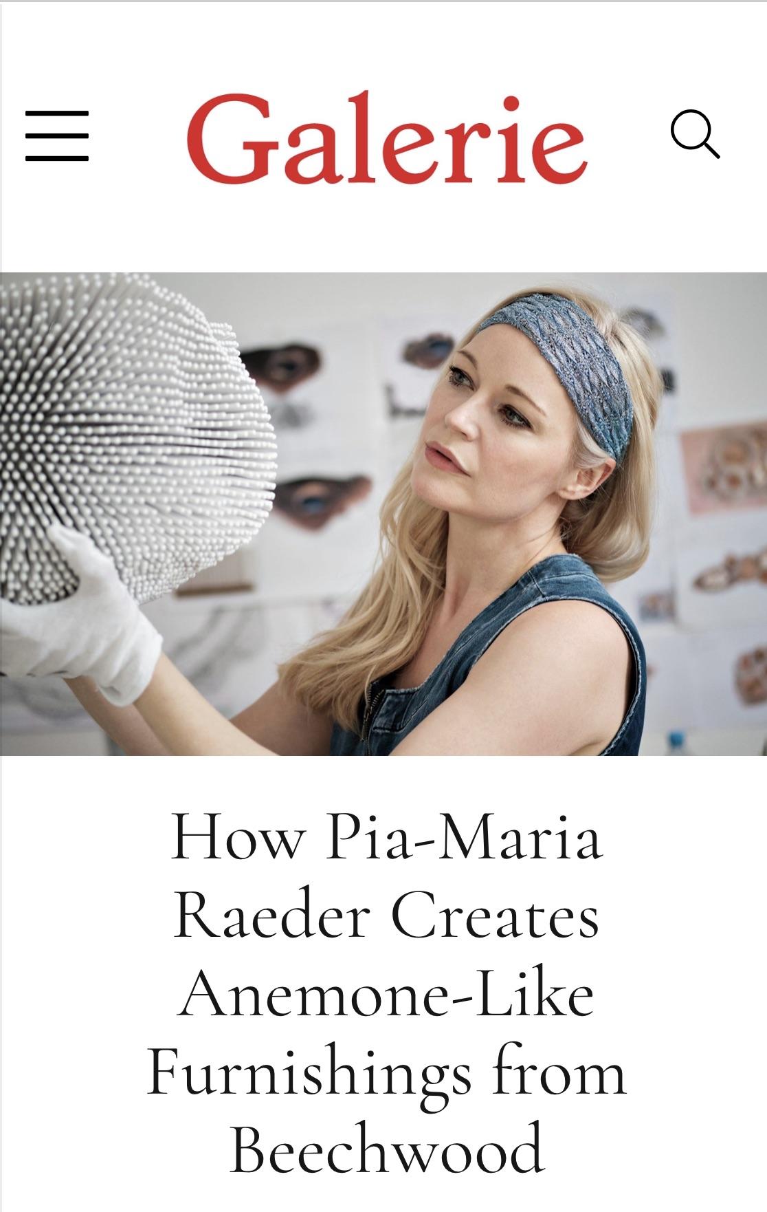Pia-Maria Raeder in Galerie Magazine, Rima Suqi