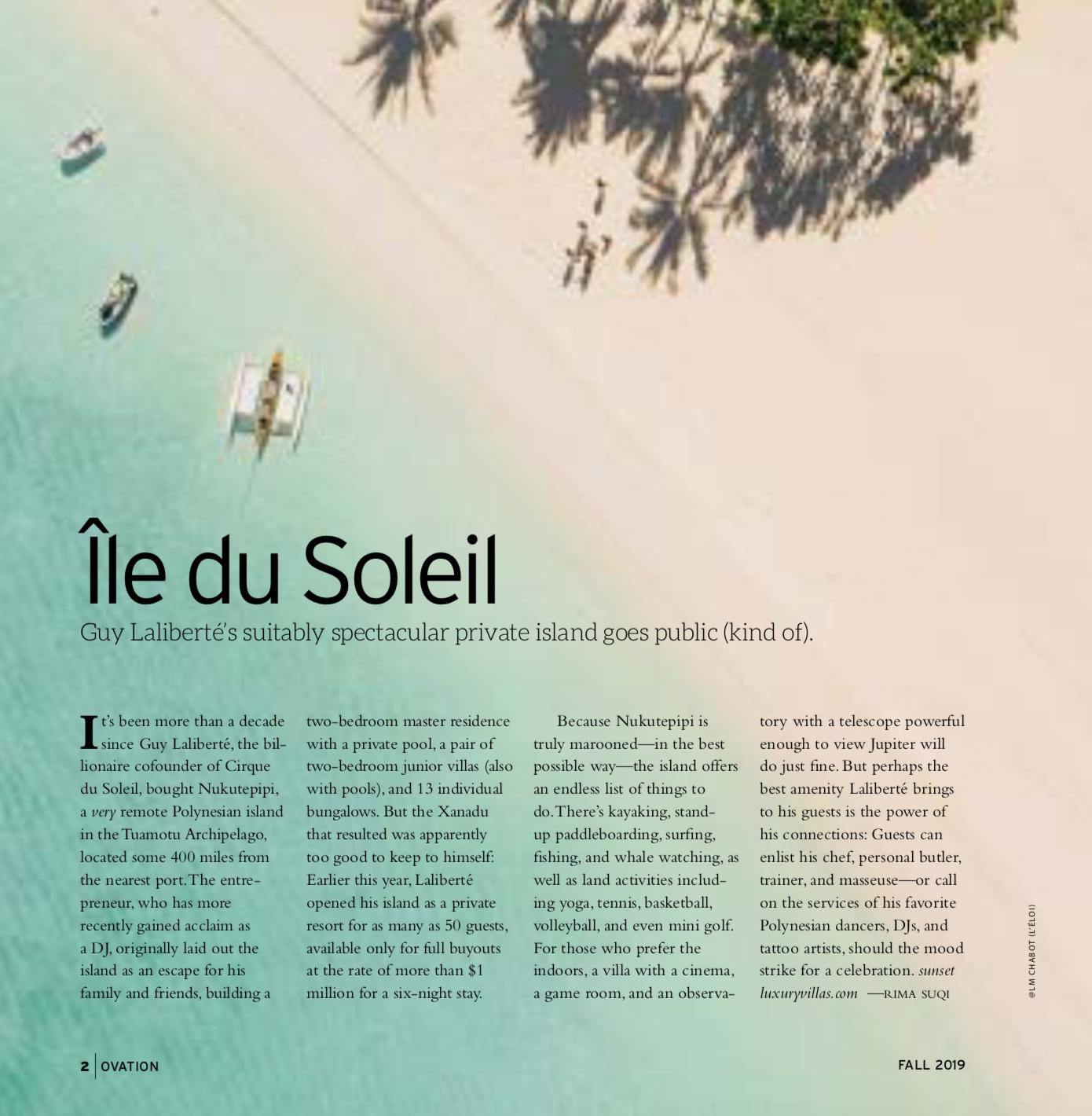 Guy LaLiberte, Nukutepipi, Tahiti