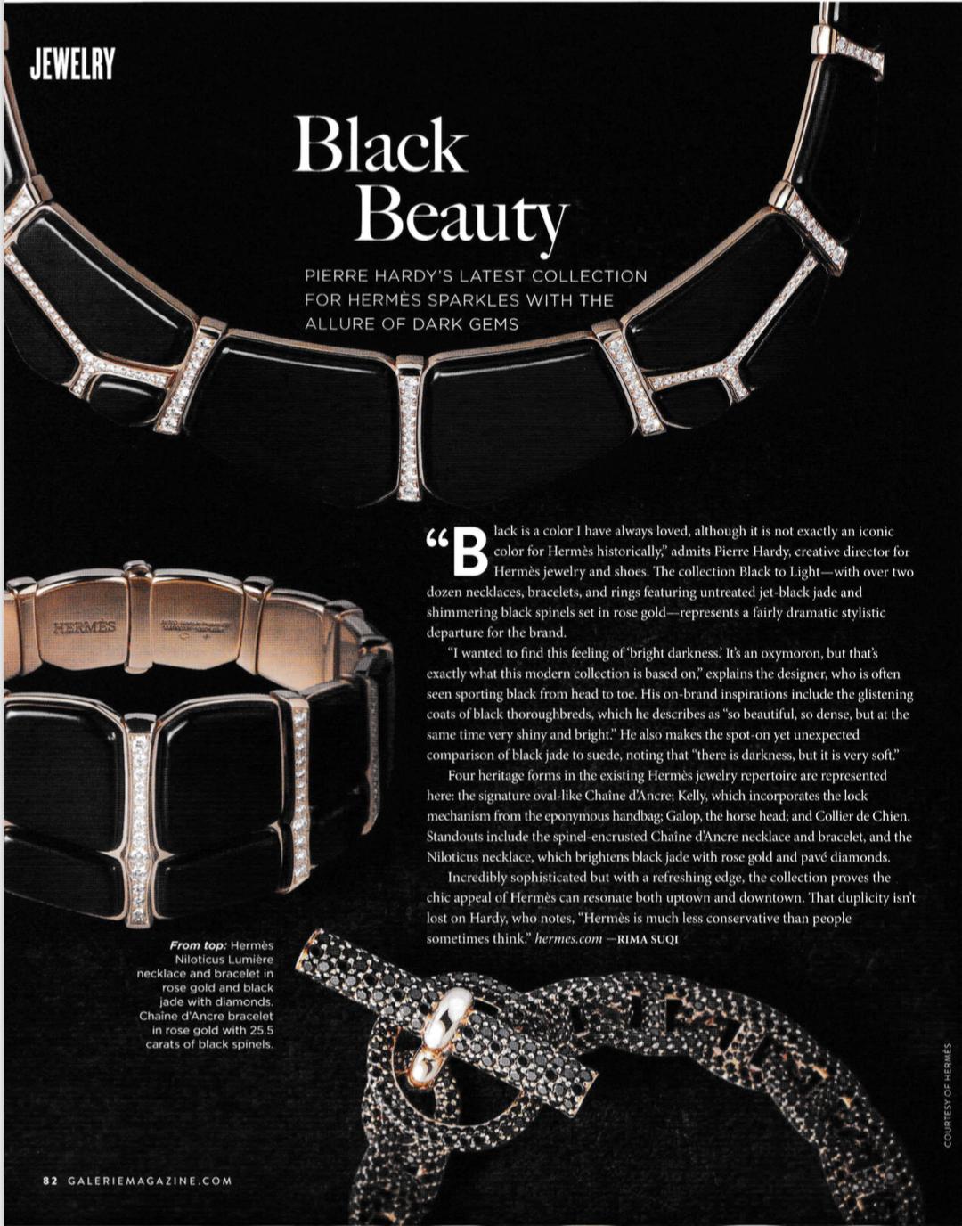 Hermes jewelry, Galerie Magazine, Rima Suqi, Pierre Hardy