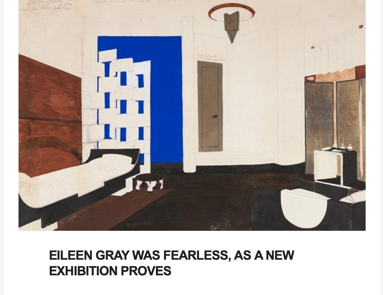 Eileen Gray at Bard, Rima Suqi, AD Pro
