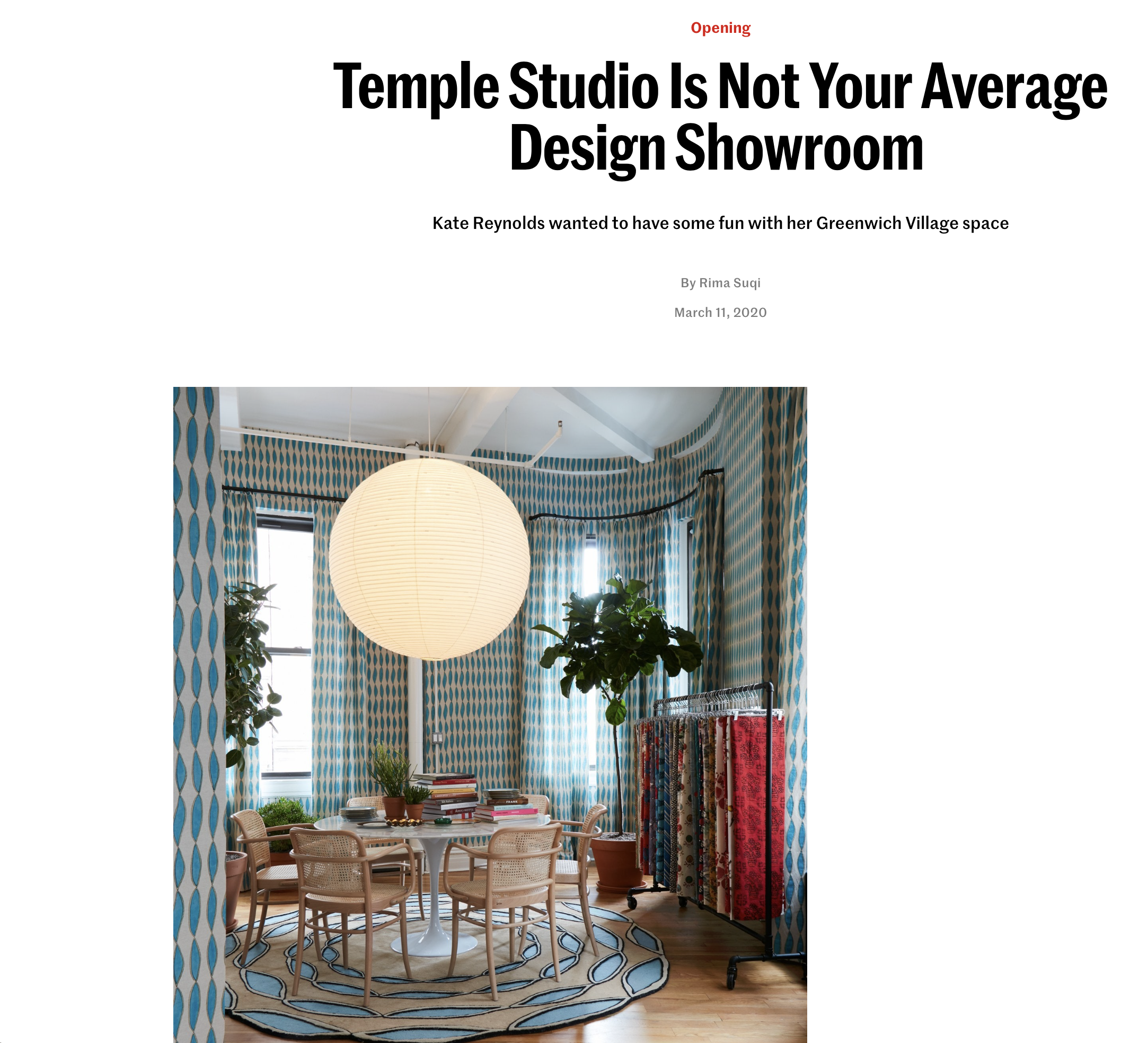 Temple Studios, Rima Suqi, Doug Meyer, AD Pro, Architectural Digest