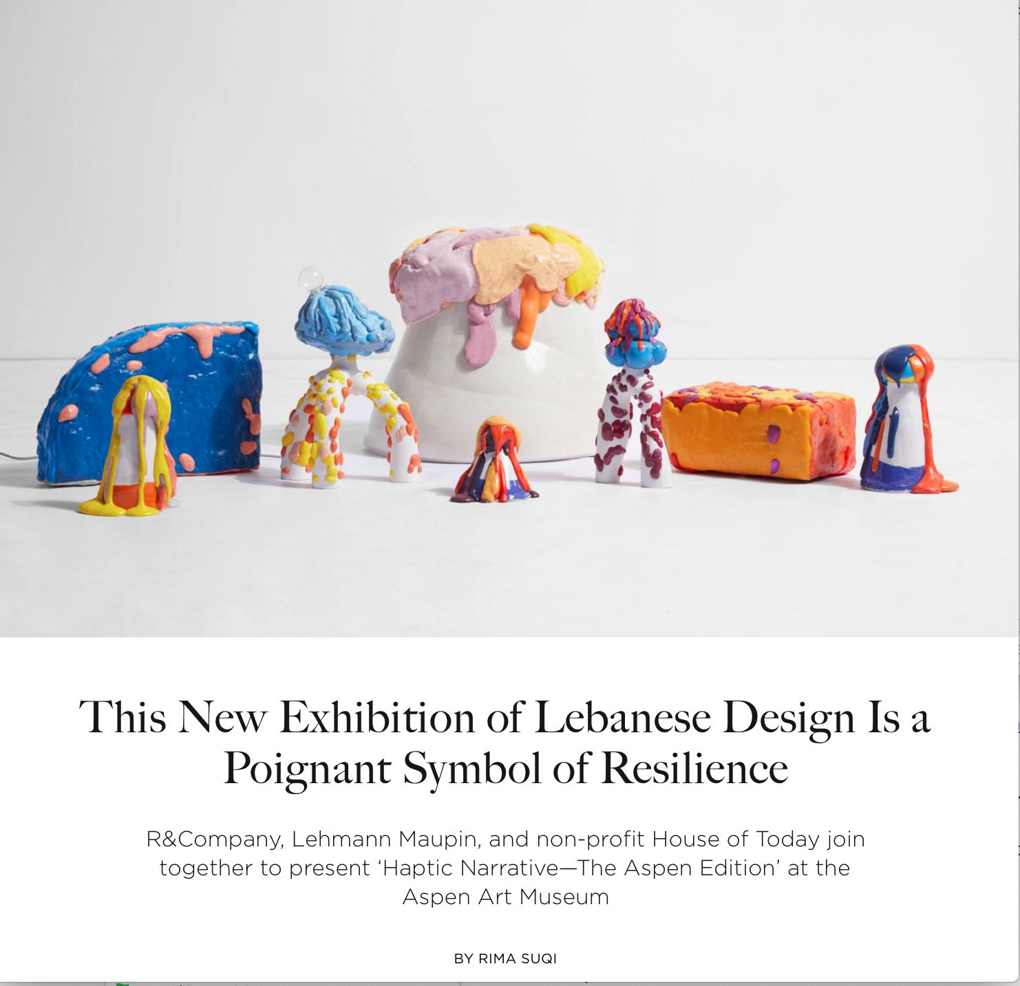 Rima Suqi article, Lebanese Design, House of Today