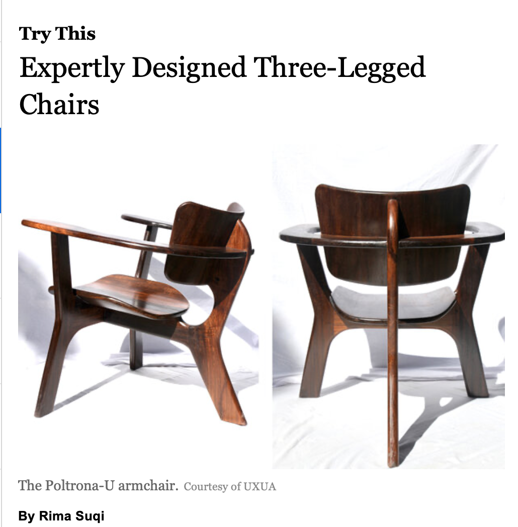 Uxua Das furniture, Rima Suqi, New York Times, Wilbert Das
