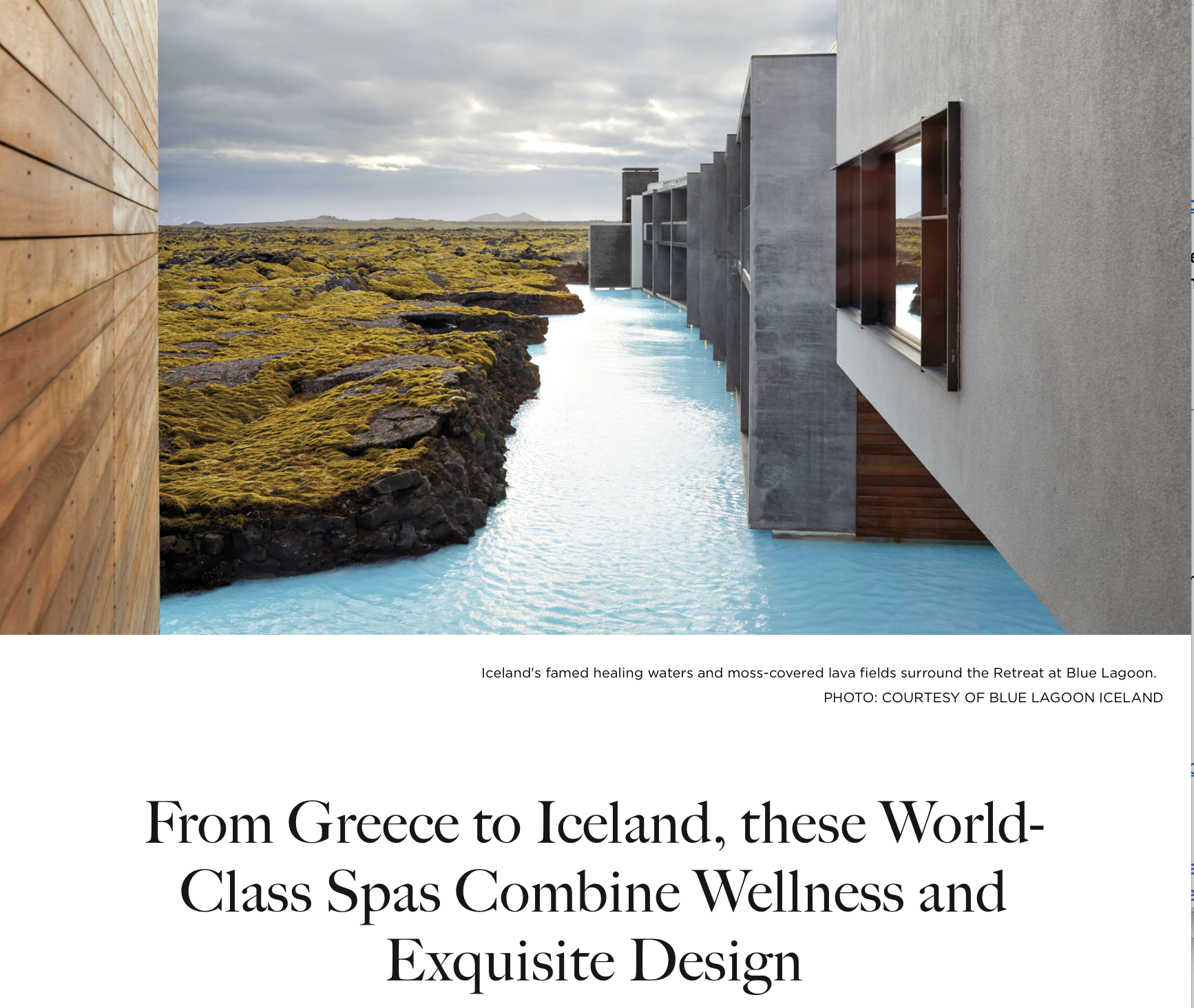 Top Luxury Spas, Galerie Magazine, Fall 2020, Rima Suqi