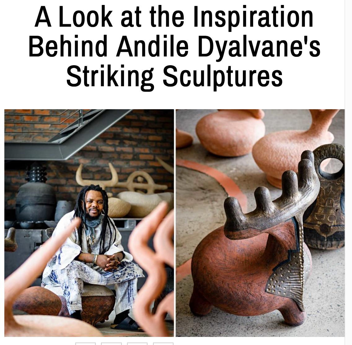 Andile Dyalvane ceramics, Rima Suqi, Departures Magazine