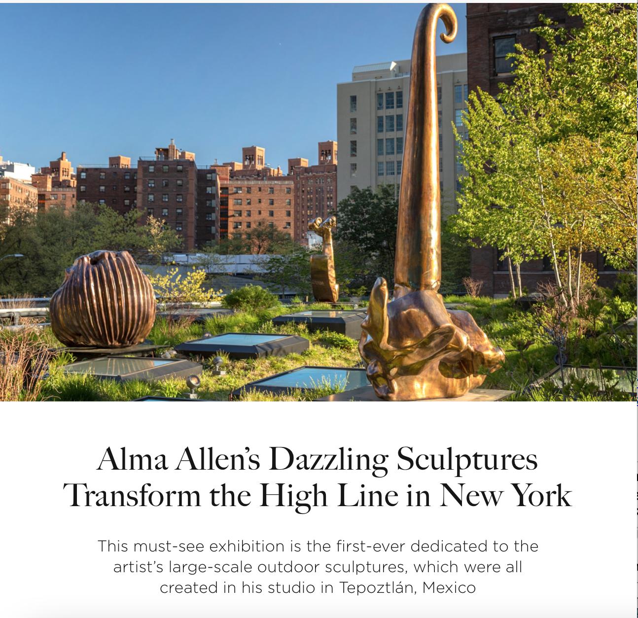 Alma Allen sculptures, Kasmin gallery, High Line, Rima Suqi