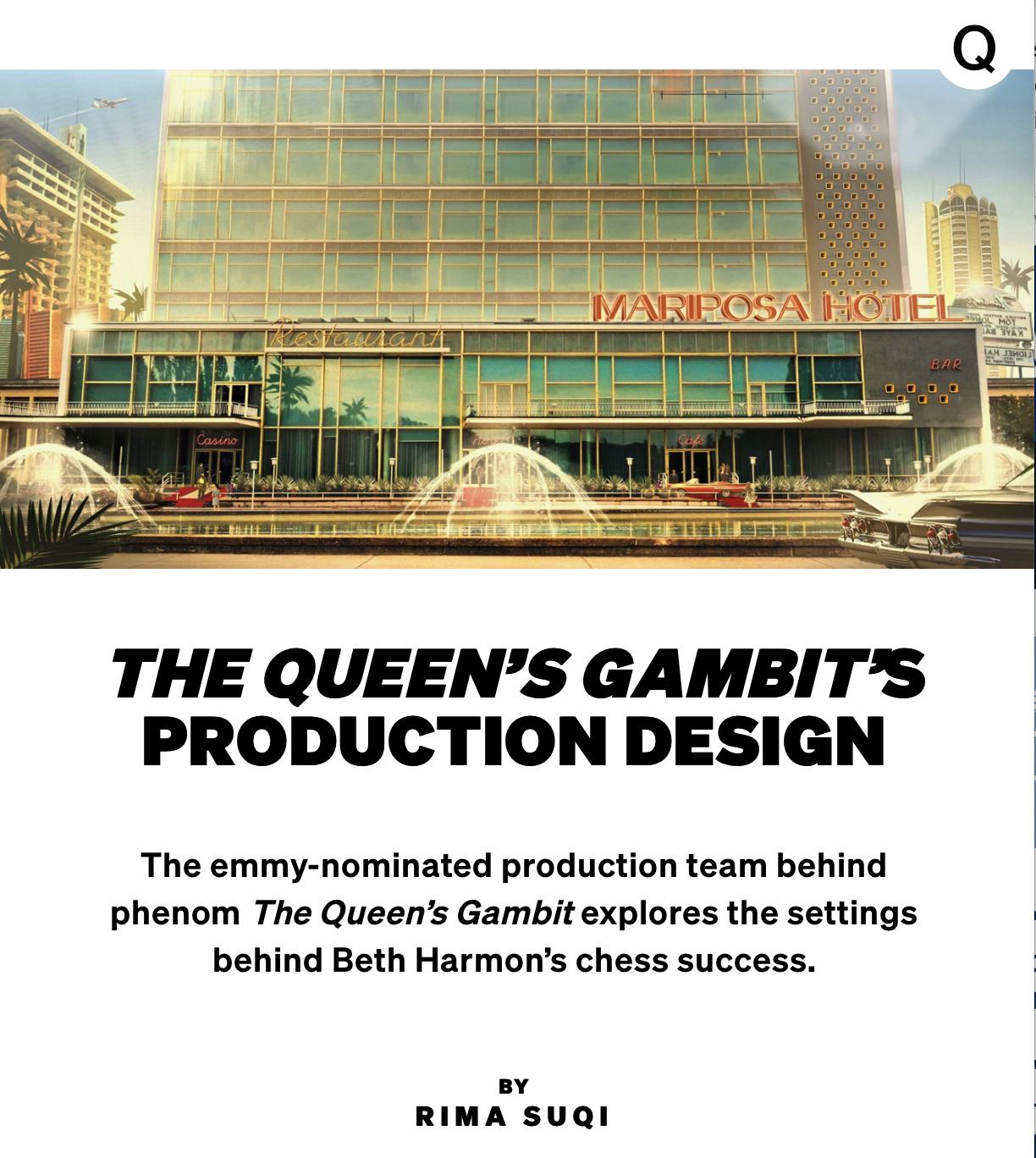 Uli Hanisch, Rima Suqi, Netflix, The QUeen's Gambit