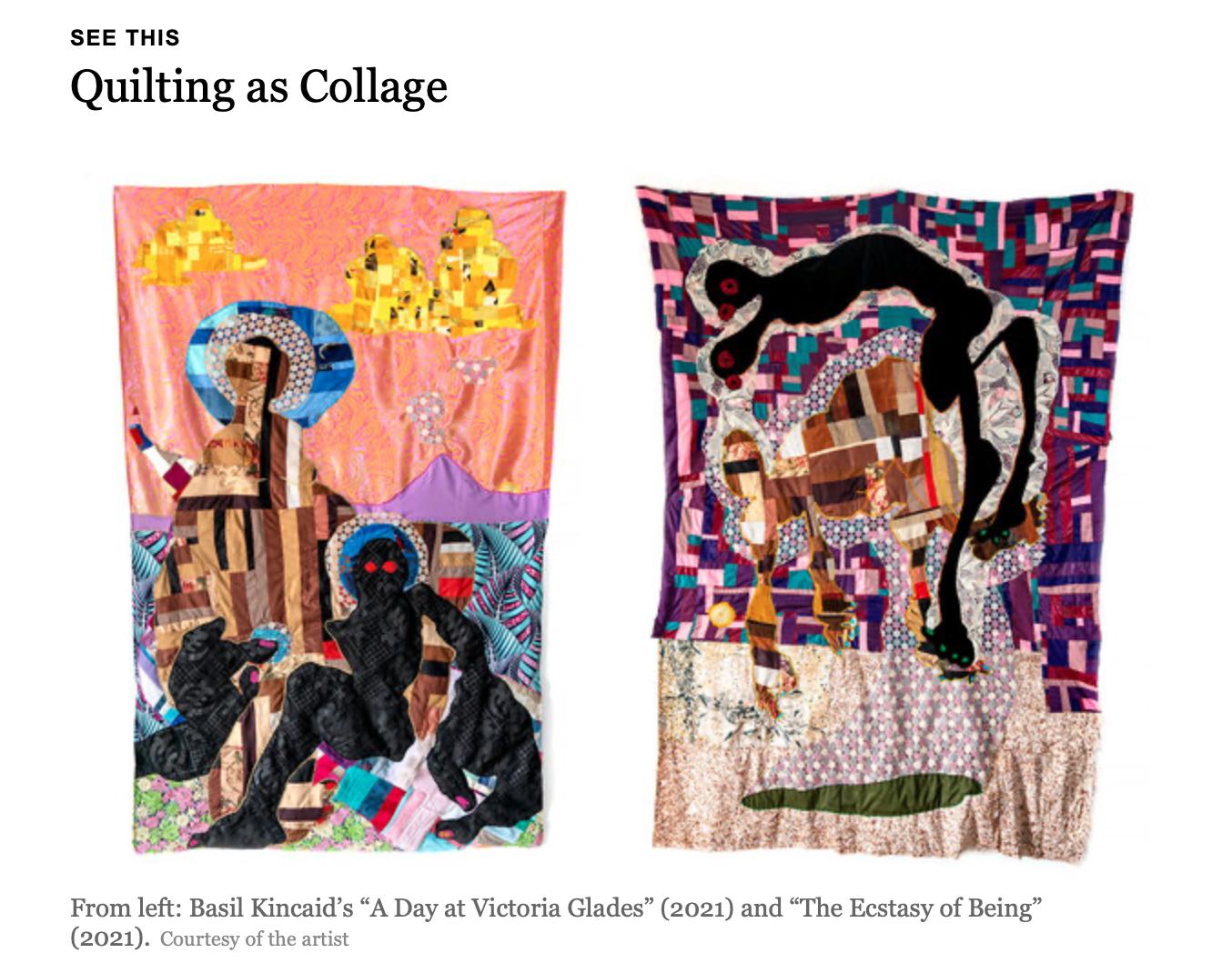 Basil Kincaid quilts, Rima Suqi, Galleria Poggiali